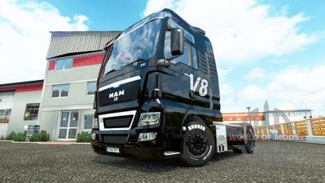 V8 de piel para HOMBRE camiones para Euro Truck Simulator 2