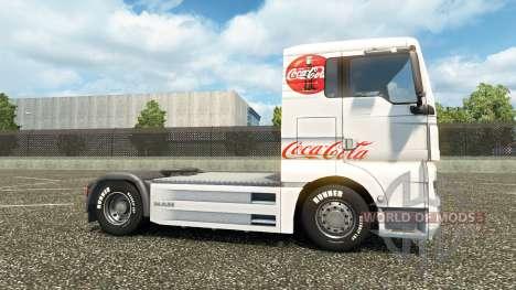 La piel de Coca-Cola en el camión en el HOMBRE para Euro Truck Simulator 2