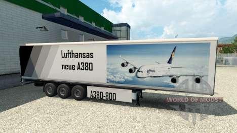 La piel del A380 en el remolque para Euro Truck Simulator 2