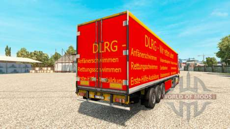 DLRG skin for DAF truck para Euro Truck Simulator 2