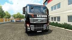 Saturno de la piel en los camiones Volvo