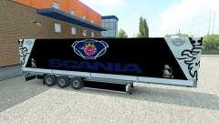 La piel Scania semirremolque