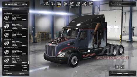 Extensa gama de motores Paccar para American Truck Simulator