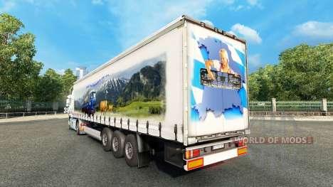 Baviera Express de la piel para camiones Volvo para Euro Truck Simulator 2