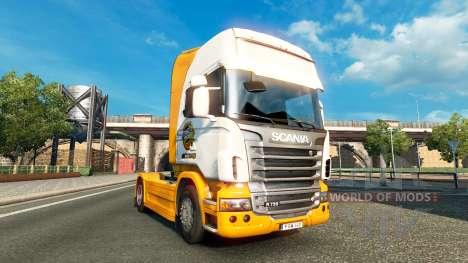 Mezzo Mezcla de la piel para Scania camión para Euro Truck Simulator 2