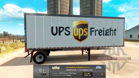 Remolques UPS y Verde de la Ciudad para American Truck Simulator