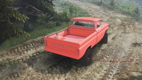 Chevrolet C30 1966 [orange] v1.1 [16.12.15] para Spin Tires