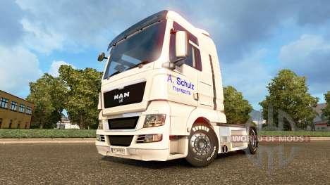 La piel A. Schulz en el camión MAN para Euro Truck Simulator 2