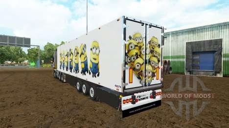 La piel para el Esbirro Fan trailer para Euro Truck Simulator 2