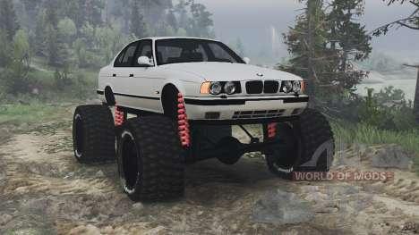 BMW M5 (E34) [bigfoot] v1.2 [16.12.15] para Spin Tires
