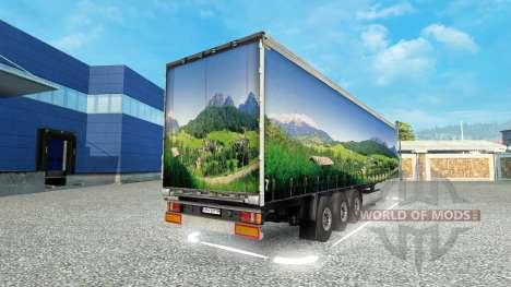 La piel del Paisaje en el remolque para Euro Truck Simulator 2
