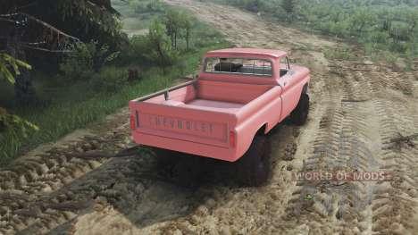 Chevrolet C30 1966 [brick red] v1.1 [16.12.15] para Spin Tires