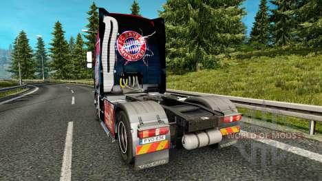 La piel del FC Bayern Munchen en un camión Volvo para Euro Truck Simulator 2