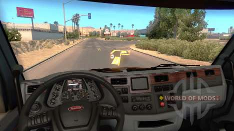 El holograma del minimapa para American Truck Simulator