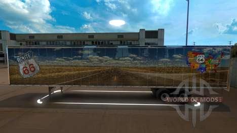 Route 66 Trailer para American Truck Simulator