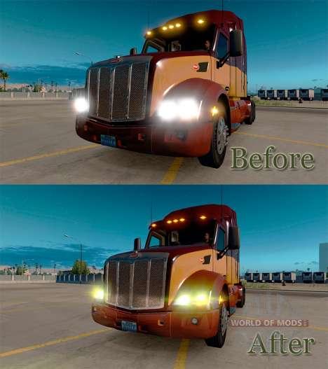 Las luces amarillas para American Truck Simulator