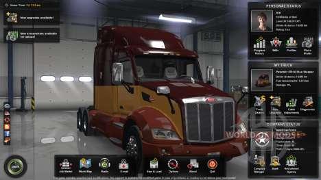 El nivel máximo, el dinero y la carta abierta para American Truck Simulator