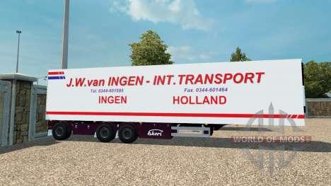 Semi J. W. van Ingen para Euro Truck Simulator 2