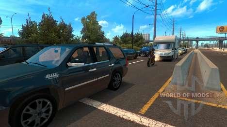 Motocicletas entre el tráfico para American Truck Simulator