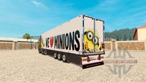 Minion Fan de la piel v2.0 en el semi-remolque para Euro Truck Simulator 2