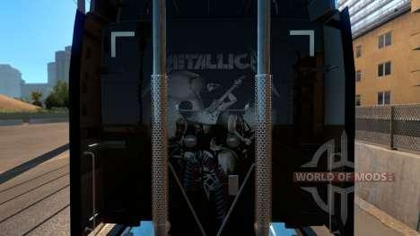 Skin Metallica for Peterbilt 579 para American Truck Simulator