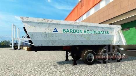 Bardon Agregados de la piel en el remolque para Euro Truck Simulator 2