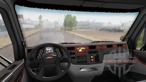 Efecto de lluvia de v1.7.4 para American Truck Simulator
