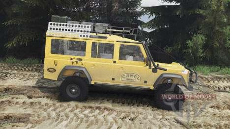 Land Rover Defender 110 Camel Trophy [25.12.15] para Spin Tires