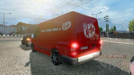 Ford Transit KitKat para Euro Truck Simulator 2