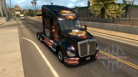 T680 Harley Davidson skin para American Truck Simulator