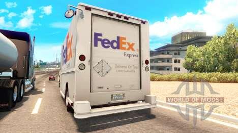 Real de las marcas en los furgones de tráfico para American Truck Simulator