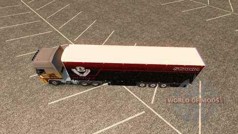 De la piel para Scania V8 Schmitz remolque para Euro Truck Simulator 2