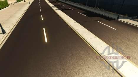 Oscuro asfalto para American Truck Simulator