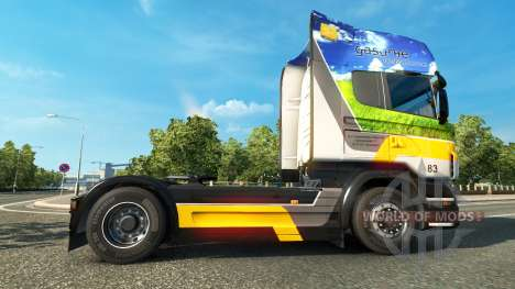 Gasunie de Transporte de la piel para Scania cam para Euro Truck Simulator 2