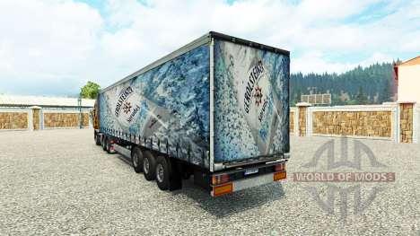 La piel Gerolsteiner en el remolque para Euro Truck Simulator 2