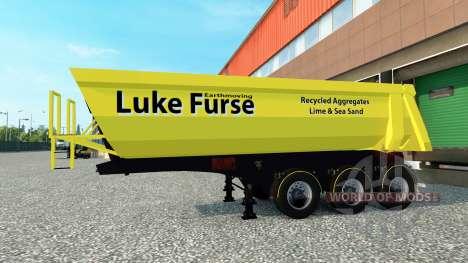 Lucas Furse de la piel para remolque para Euro Truck Simulator 2