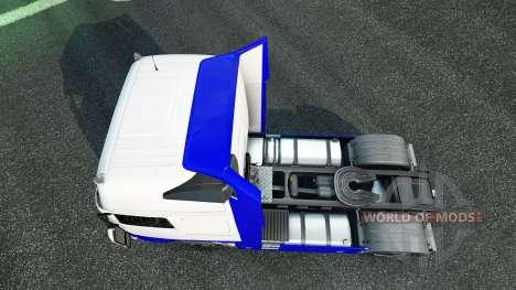 La piel Azul-Blanco en la Volvo para Euro Truck Simulator 2
