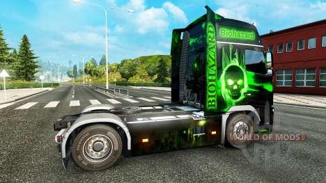 De riesgo biológico de la piel para camiones Vol para Euro Truck Simulator 2