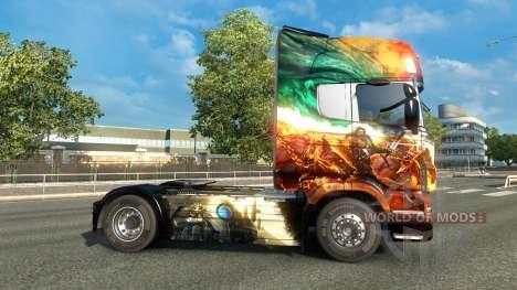 El Guild Wars 2 piel para Scania camión para Euro Truck Simulator 2