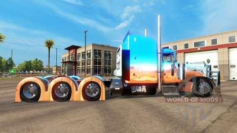 La piel Caveira en el tractor Peterbilt 379 para American Truck Simulator