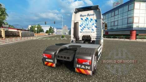 La piel Baviera Express en el camión MAN para Euro Truck Simulator 2