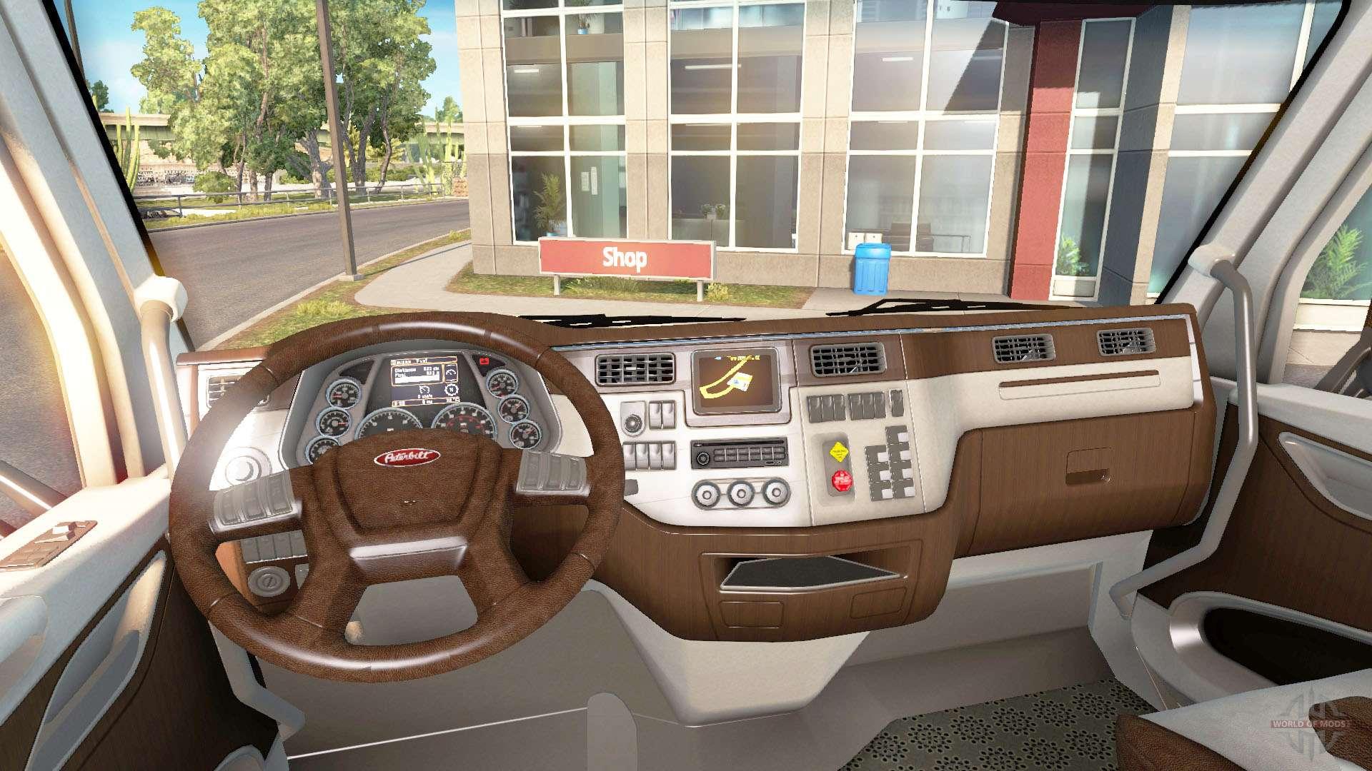 El nuevo color peterbilt 579 interior para american truck simulator for Volvo semi truck interior accessories