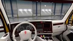 Blanco Kenworth T680 interior