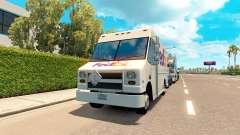 Real de las marcas en los furgones de tráfico