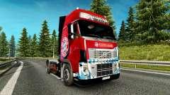 La piel del FC Bayern Munchen en un camión Volvo