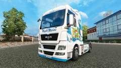 La piel Baviera Express en el camión MAN