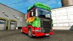 La piel Inferior en la unidad tractora Scania