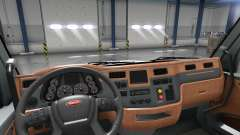 Actualizado interior en un Peterbilt 579