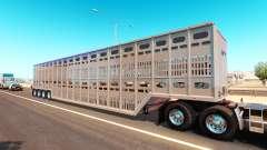 El transporte de animales semi-remolque