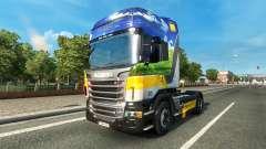 Gasunie de Transporte de la piel para Scania cam